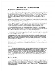 Sample Business Summary Template Simple 48 Marketing Plan Executive Summary Examples PDF