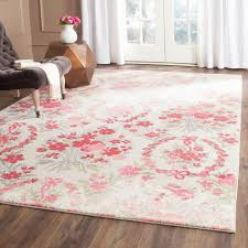 contemporary 4 x 7 area rug within safavieh monaco ivory pink ft 5 in mnc205r