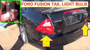 Ford Fusion Brake Light Switch Ford Fusion Brake Light Tail Light Turn Signal Light Bulb Replacement 2009 2010 2011 2012 Fusion