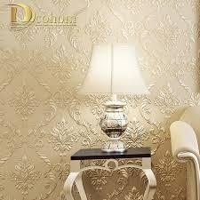 Pink Damask Wallpaper Bedroom Aliexpresscom Buy Modern Simple Beige Pink Damask Wallpaper For