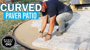 build a paver patio with curves