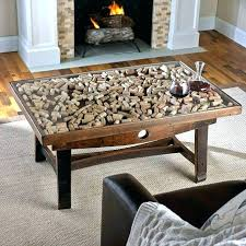 wine cork coffee table cork coffee table cork coffee table collectors display top with barrel stave wine cork coffee table