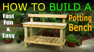 diy how to build a potting bench work bench official rh you com raised potting bench homemade outdoor potting bench