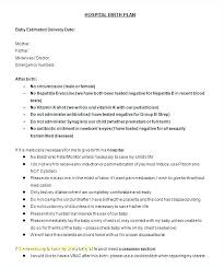 Simple Birth Plan Examples Free Birth Plan Generator Gettingfit Co