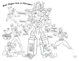 Mighty Power Rangers Coloring Pages Page Great Ninja Steel Gold
