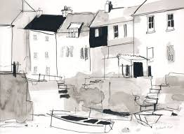 richard tuff fowey river cote boat sket drawingsdrawing sketchesboat artlandscape drawingslandscapesdrawing projectsurban sketcherswatercolor