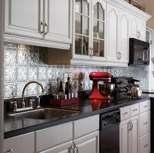 ... Tin Backsplash Color Peel And Stick Backsplash Tiles: Breathtaking  Kitchen Metal Backsplash ...