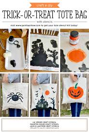 Cutting Edge Stencils shares how to craft a DIY trick-or-treat tote bag