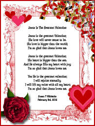 Valentines Day Quotes For Preschoolers Religious Valentine Poems Childrens Gems In My Treasure Box Jesus