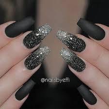 love a good matte black manicure nailsbyeffi nail design nail art nail salon irvine newport beach