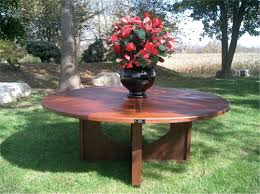 round ipe dining table simple