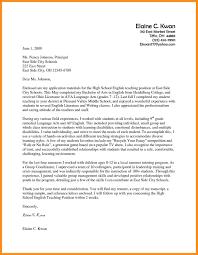 Sample Resume Cover Letter For Teaching Position Best Application