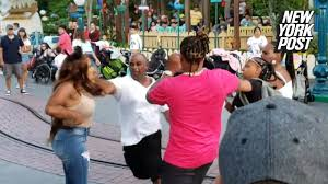 3 charged for Disneyland brawl caught on camera