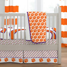 clemson university crib bedding  carousel designs