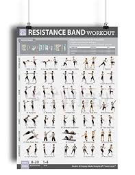 Resistance Tube Workout Chart Resistance Band Tube Exercise Poster Now Laminated Total Body Workout Fitness Chart Strength Training Gym Home Fitness Training Program For