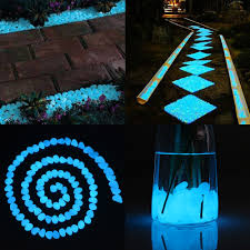 cozzine glow in the dark pebbles luminous cobblestones set of 100 lake blue