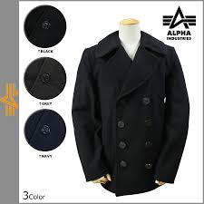 sugar rakuten global market alpha alpha industries alpha alpha industries p coat pea coat men s outerwear 2016 stock 3 color usn