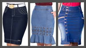 Denim Skirt Designs Daily Office Work Wear Women Denim Skirts Design And Ideas Wear With Jacket Dress Slim Fit Dresses
