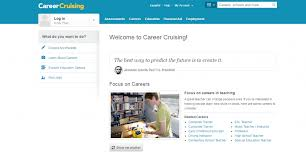 Career Cruising presents ample information divided into five tabs:  Assessments, Careers, Education, Financial Aid, and Employment.