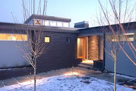 image of new mid century modern exterior lighting