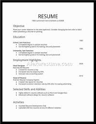 Resume Examples For Teenagers First Job First Resume Template