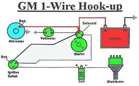 gm one wire alternator diagram alternator wiring connections at Alternator Wiring Diagram
