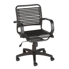 chairs with arms. Black Flat Bungee Office Chair With Arms Chairs
