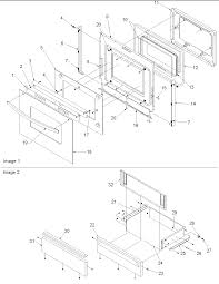 Acs3350ab gas range oven door storage drawer parts diagram
