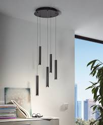 Eglo Raparo Black Modern Suspension Led 5 Lights
