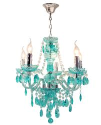 teal lamp glass droplet table