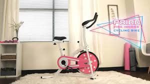 sunny health fitness p8100 pink chain drive indoor cycling trainer exercise bike walmart