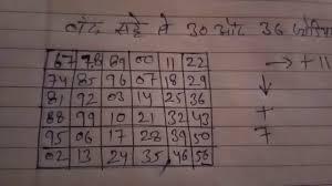 12 30 36 Satta King Desawar Satta King Record Chart Result