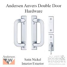 double door hardware parts. anderson french door hardware gliding trim 4 panel interior and exterior satin nickel double parts