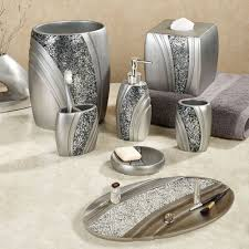 bathroom accessories sets silver. Brilliance Mosaic Silver Gray Bath Accessories Bathroom Sets R