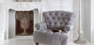 Charcoal Buttoned Armchair By French Bedroom Company