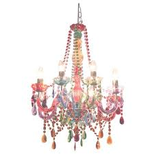 photo gallery of colorful chandeliers viewing 14 45 photos gypsy chandelier pendant ceiling light multi coloured small droplets