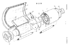 exploded view of one section of the motor driver