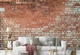 old brick wall paper mural at