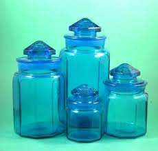 blue glass canister set large glass kitchen canisters cobalt blue glass dishes cobalt blue kitchen canister set vintage cobalt blue blue depression glass