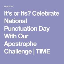 Celebrate National Punctuation Day With Our Apostrophe Quiz ...