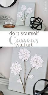 diy shabby chic canvas wall art with paper or lace flowers and twigs on shabby chic wall art pinterest with diy shabby chic canvas wall art with paper or lace flowers and