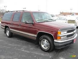 1998 Dark Carmine Red Metallic Chevrolet Suburban C1500 LT ...