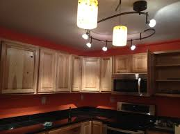 lovely kitchen lighting design using track lights impressive kitchen design ideas with black iron track