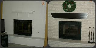 an amazing new look on a previously painted brick fireplace