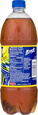 lipton brisk iced tea lemon 33 8 fl oz 1 count walmart