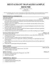 Restaurant Manager Resume Template Business Articles Pinterest