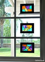 stained glass suncatchers stained glass frame uncommon designs homemade easy suncatcher patterns free