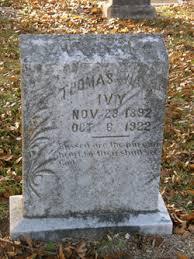 Thomas Wayne Ivy (1892-1922) - Find A Grave Memorial