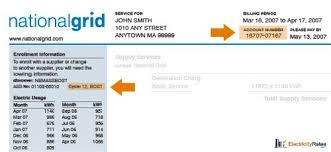National Grid Customer Service National Grid Bill Electricityrates Com