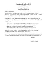 Cover Letters For Nurses Nursing Resume Letter To Get Ideas How Make